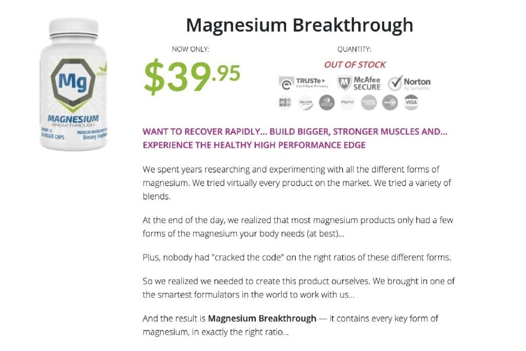 Magnesium Breakthrought