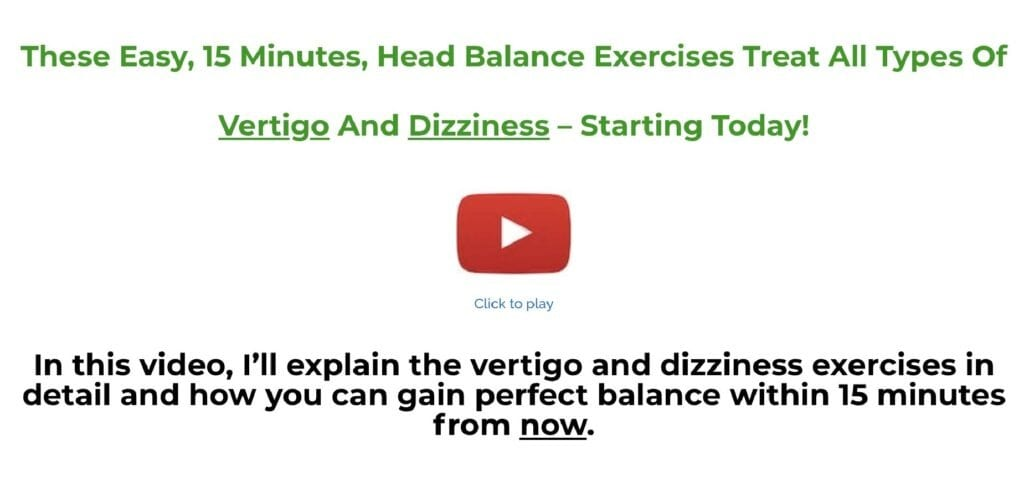 Vertigo And Dizziness Program